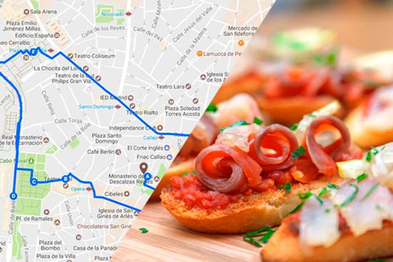 Ruta de Tour de tapas Madrid
